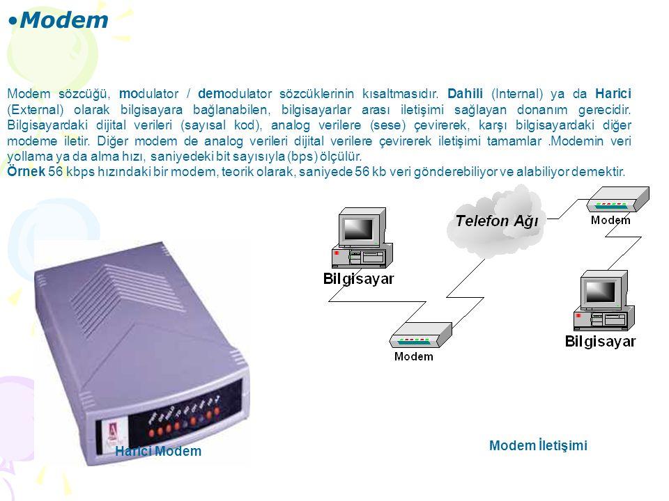 SES KARTLARI Ses kartları bilgisayarlarda dijital olarak üretilen ses bilgisinin hoparlörlere aktarımını gerçekleştiren veya analog olarak dış ortamda