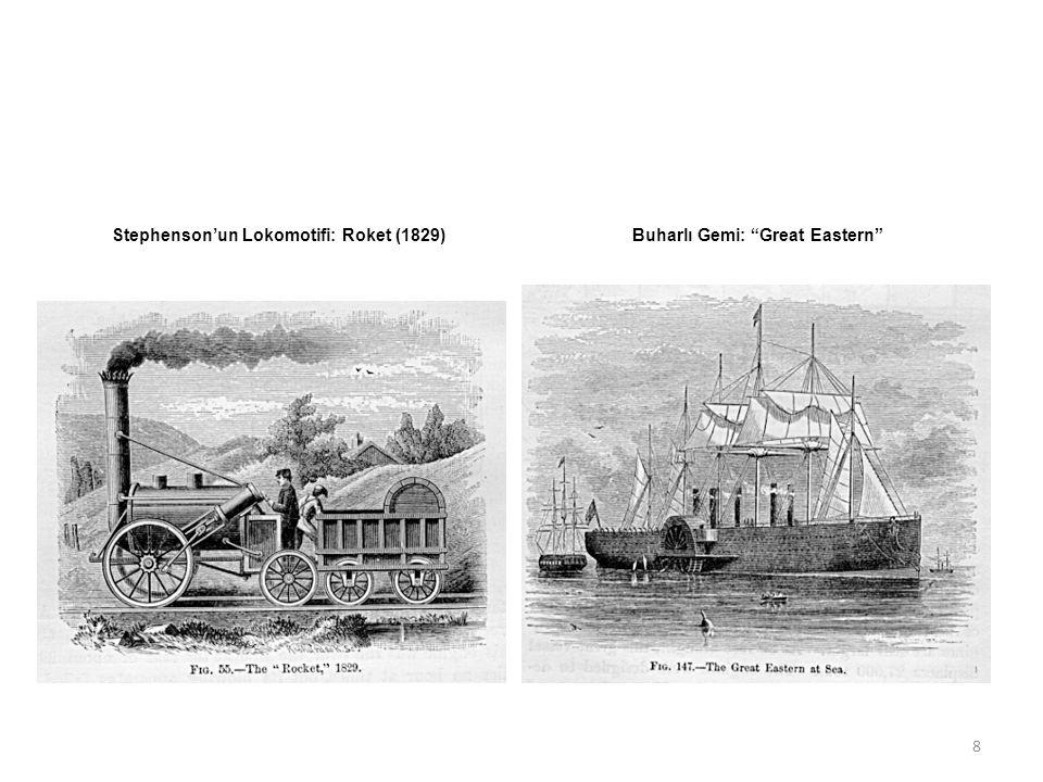 Stephenson'un Lokomotifi: Roket (1829)Buharlı Gemi: Great Eastern 8
