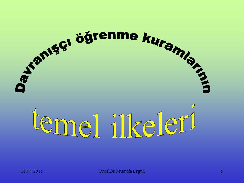 11.04.2015Prof.Dr. Mustafa Ergün5