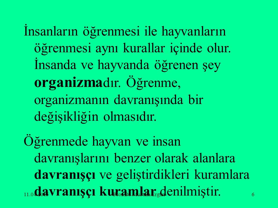 11.04.2015Prof.Dr. Mustafa Ergün17 @ ♀ ∫ ∑ €     