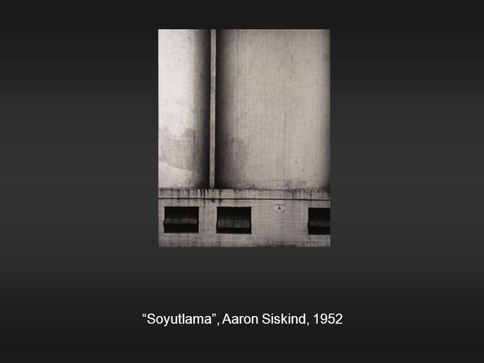 """Soyutlama"", Aaron Siskind, 1952"