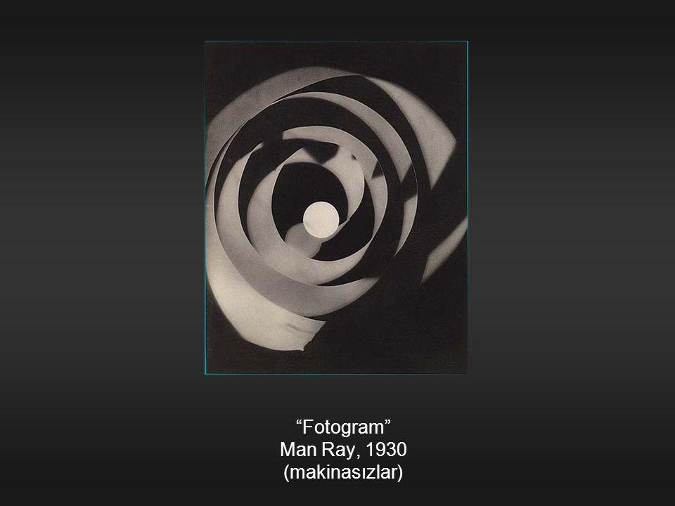 """Fotogram"" Man Ray, 1930 (makinasızlar)"