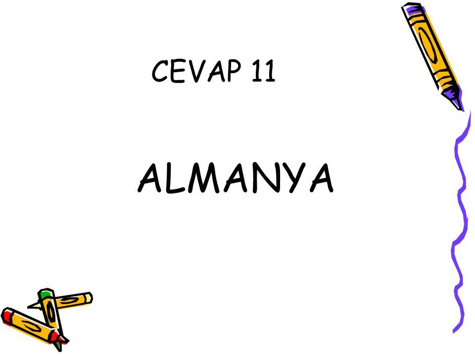 CEVAP 11 ALMANYA