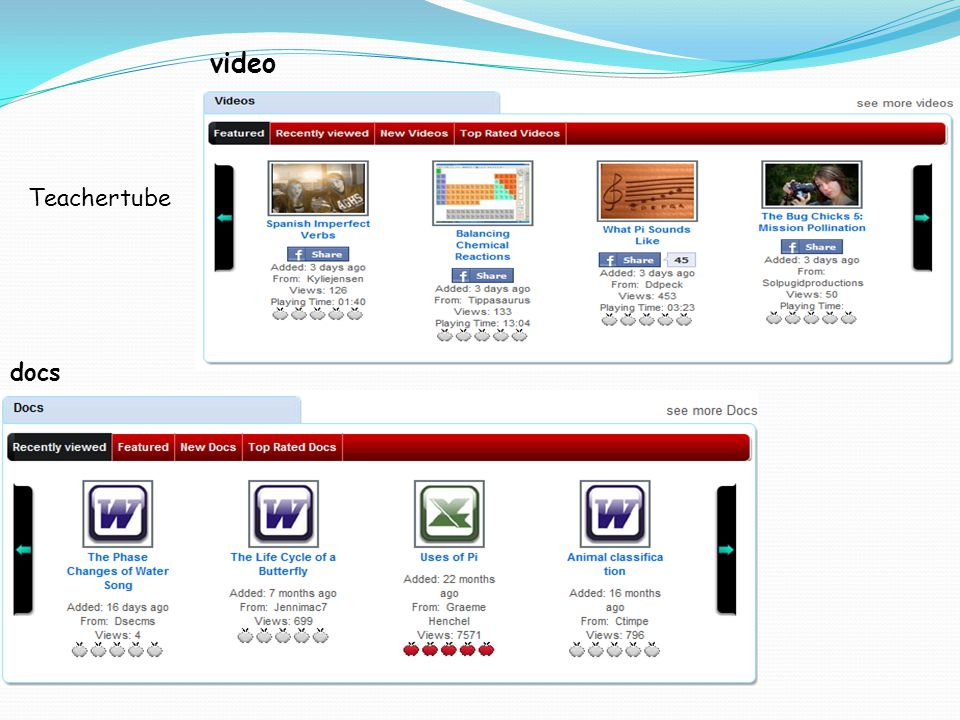 video docs Teachertube