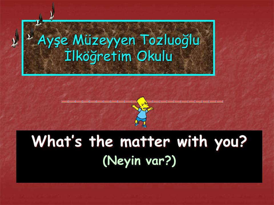 Ayşe Müzeyyen Tozluoğlu İlköğretim Okulu What's the matter with you? (Neyin var?)