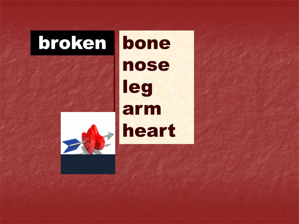 broken bone nose leg arm heart