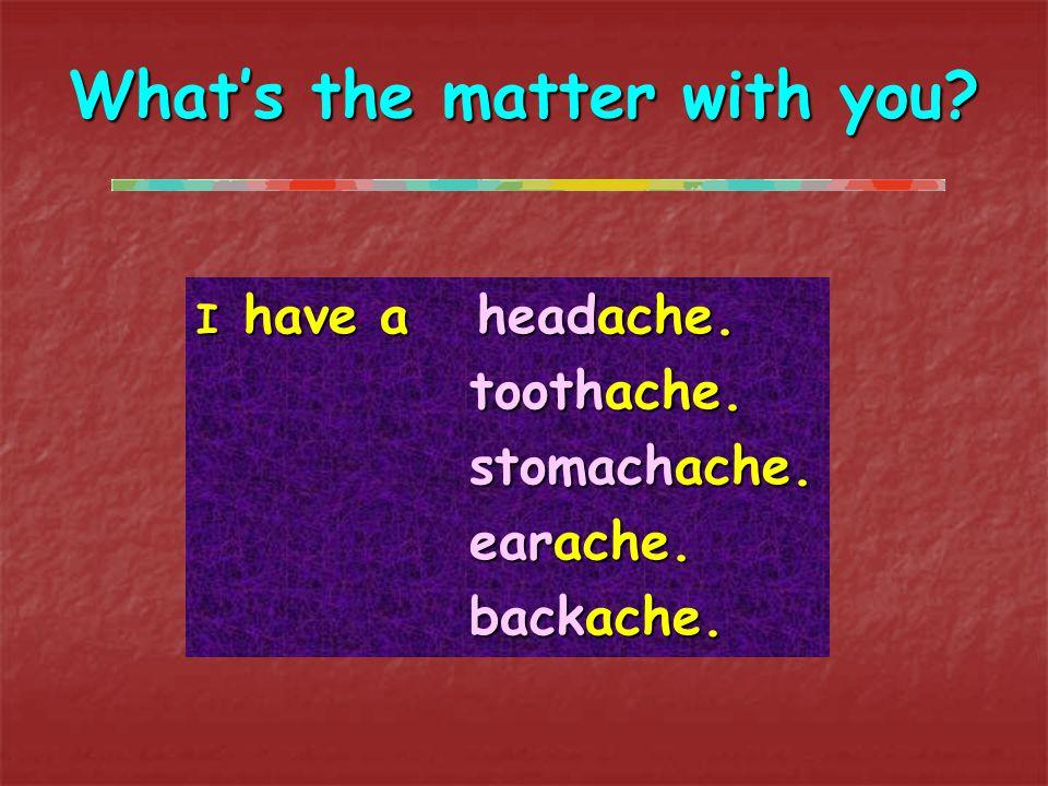 Jack has a terrbile backache. So he should go to the hospital now.