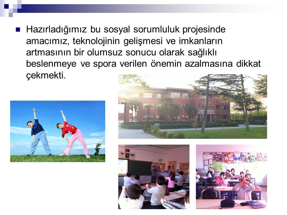 Yirmi beş Aralık 2012 tarihinde Türkan Dereli İlköğretim Okuluna gidilerek dördüncü sınıf öğrencilerine üç ayrı sınıfta sunum yapıldı.