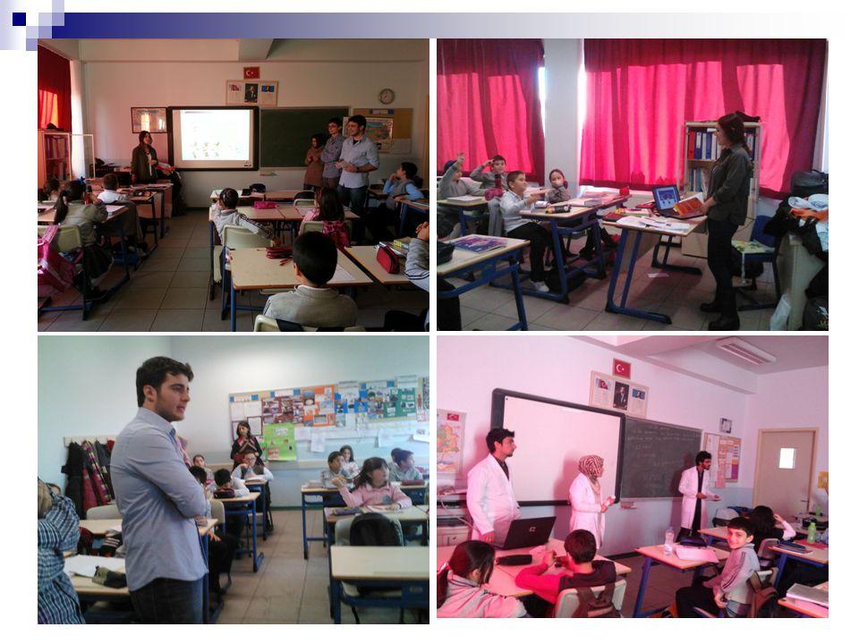 Türkan Dereli İlköğretim Okulunun dördüncü sınıf öğrencilerine hazırladığımız sunumu onların da ilgilerini çekecek, eğlenceli bir şekilde anlattık.