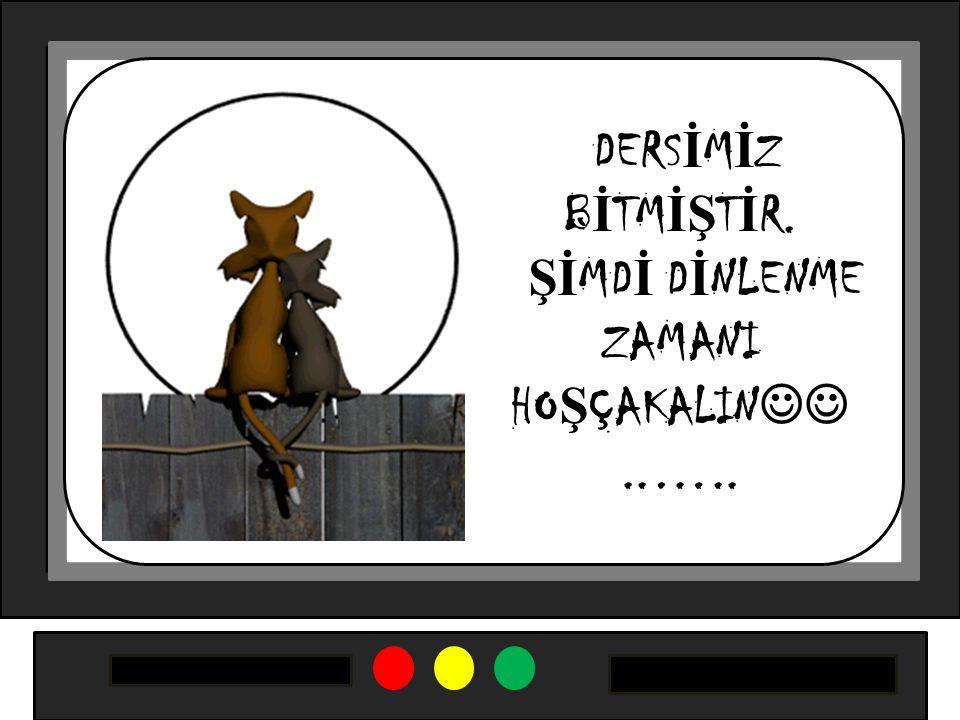 DERS İ M İ Z B İ TM İŞ T İ R. Şİ MD İ D İ NLENME ZAMANI HO Ş ÇAKALIN..…..