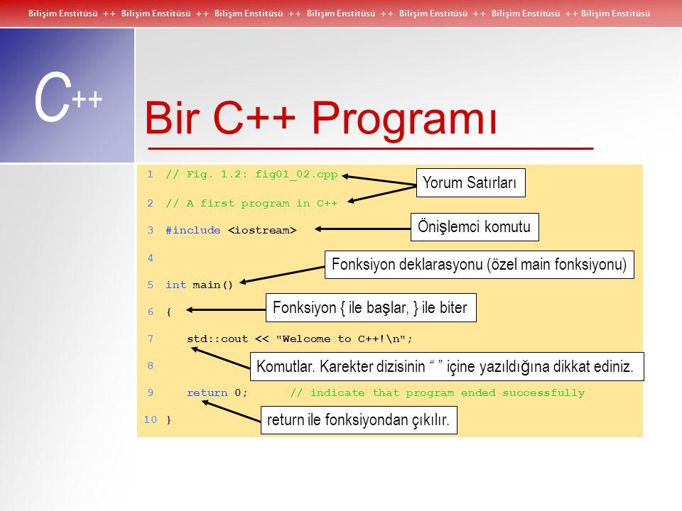Bilişim Enstitüsü ++ Bilişim Enstitüsü ++ Bilişim Enstitüsü ++ Bilişim Enstitüsü ++ Bilişim Enstitüsü ++ Bilişim Enstitüsü ++ Bilişim Enstitüsü C ++ B