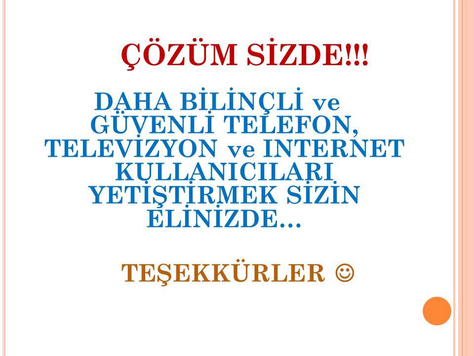 ÇÖZÜM SİZDE!!.