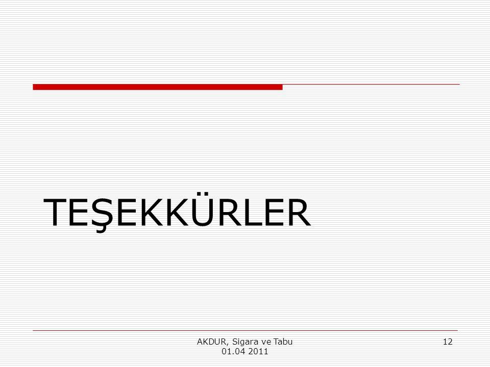 TEŞEKKÜRLER AKDUR, Sigara ve Tabu 01.04 2011 12