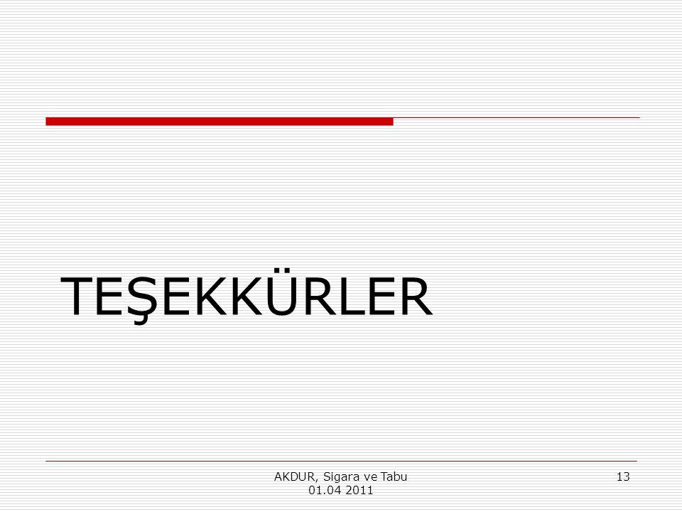 TEŞEKKÜRLER AKDUR, Sigara ve Tabu 01.04 2011 13