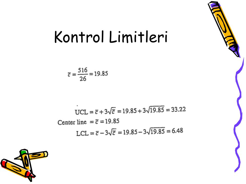 Her bir alt grup için kontrol limitlerinin hesaplanması: Bir deri boyama prosesi örneği