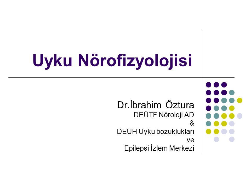 Uyku Nörofizyolojisi Dr.İbrahim Öztura DEÜTF Nöroloji AD & DEÜH Uyku bozuklukları ve Epilepsi İzlem Merkezi