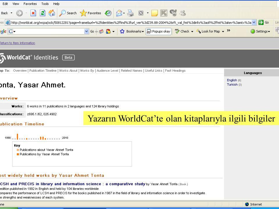 SLAYT 22BBY220 Yazarın WorldCat'te olan kitaplarıyla ilgili bilgiler