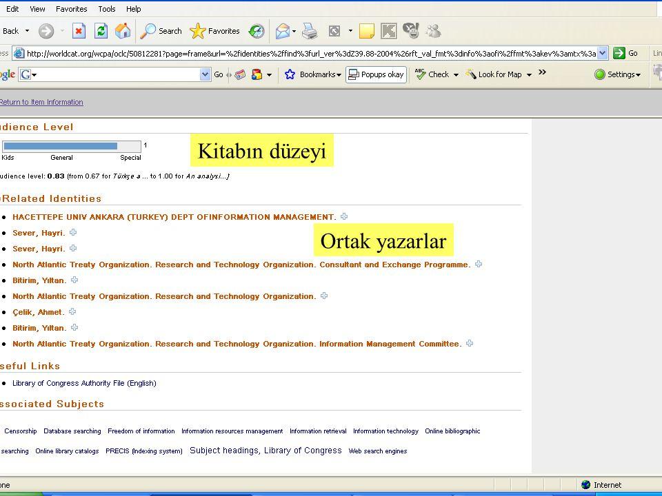 SLAYT 25BBY220 Kitabın düzeyi Ortak yazarlar