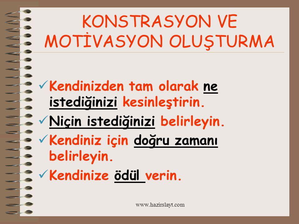 www.hazirslayt.com Büyük insanların idealleri, sıradan insanlarınsa hevesleri vardır.