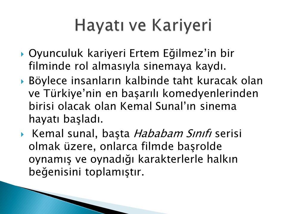  Oyunculuk kariyeri Ertem Eğilmez'in bir filminde rol almasıyla sinemaya kaydı.