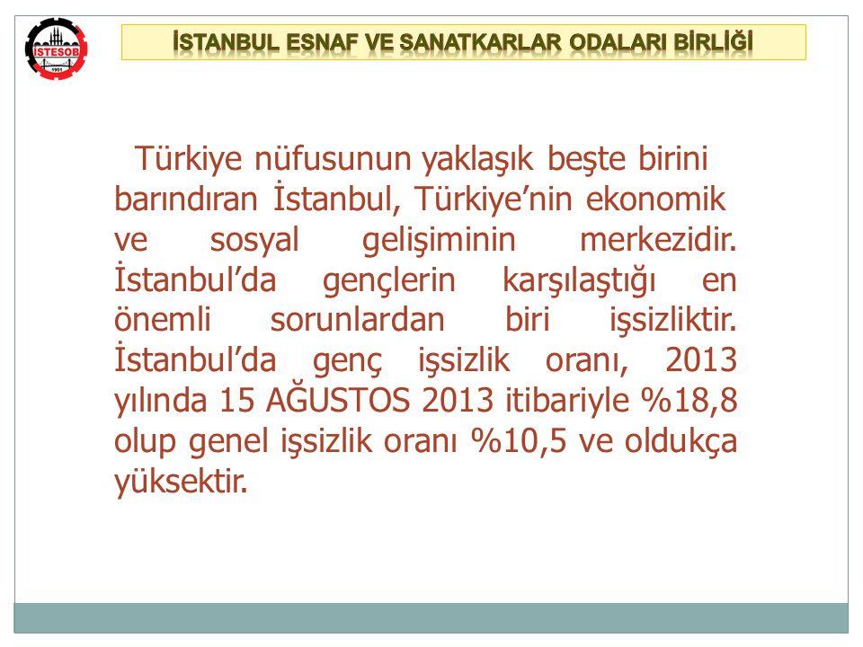 Türkiye nüfusunun yaklaşık beşte birini barındıran İstanbul, Türkiye'nin ekonomik ve sosyal gelişiminin merkezidir.