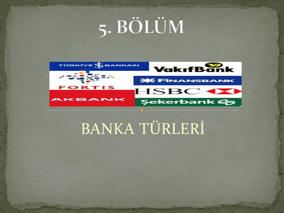 BANKA TÜRLERİ