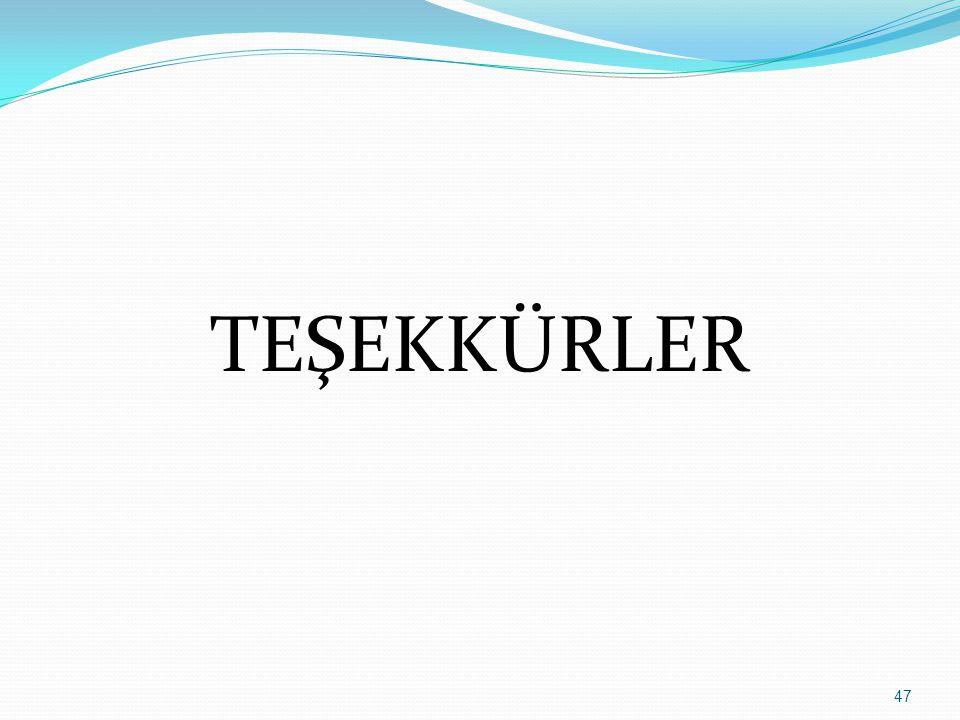 TEŞEKKÜRLER 47