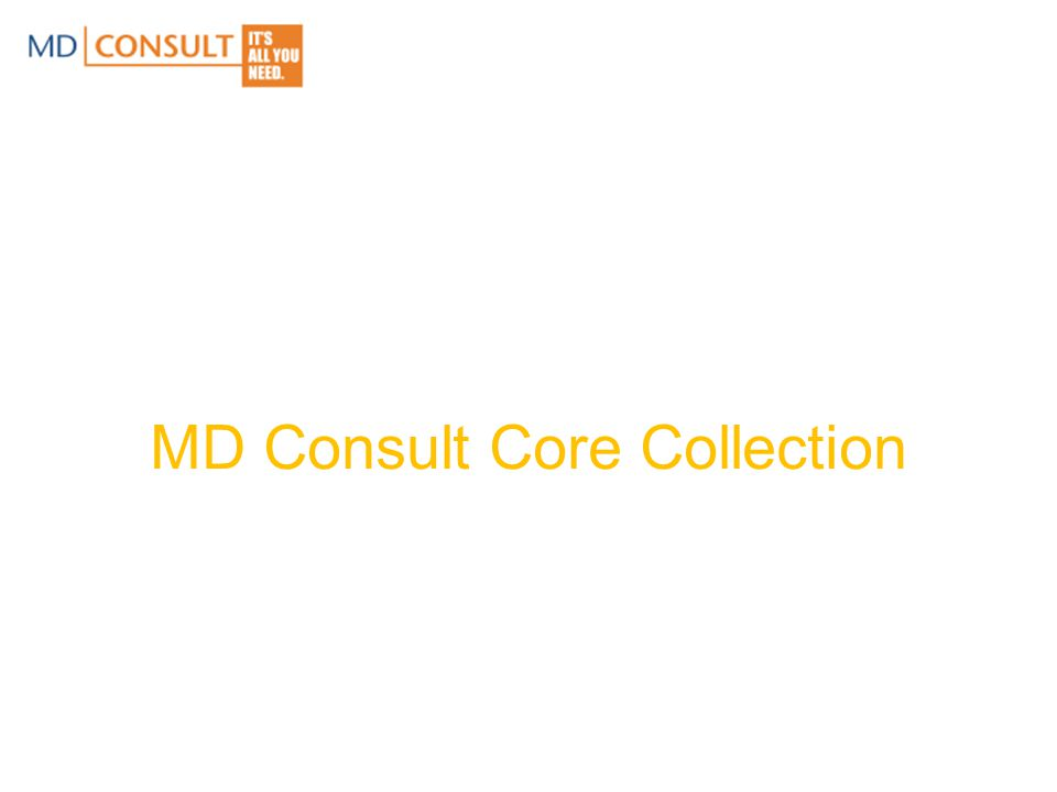 MD Consult Core Collection