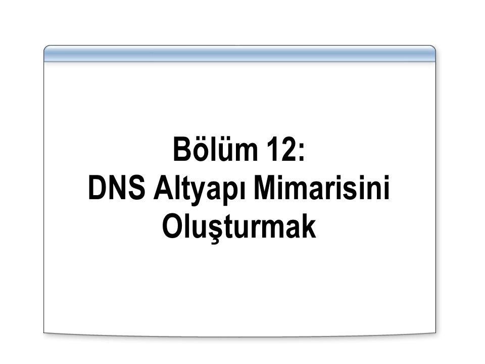 Bölüm 12: DNS Altyapı Mimarisini Oluşturmak