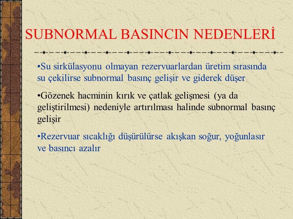 SUBNORMAL BASINÇ Hidrostatik basınçtan az olan basınca verilen isimdir. Subnormal basınç su sirkülasyonunun bir permeabilite bariyeri ile engellenmesi