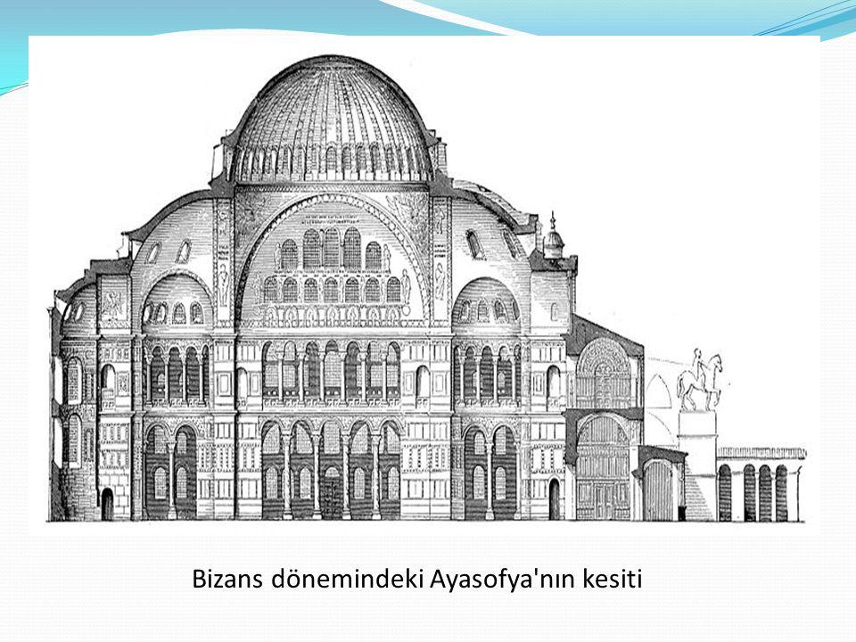 Bizans dönemindeki Ayasofya'nın kesiti