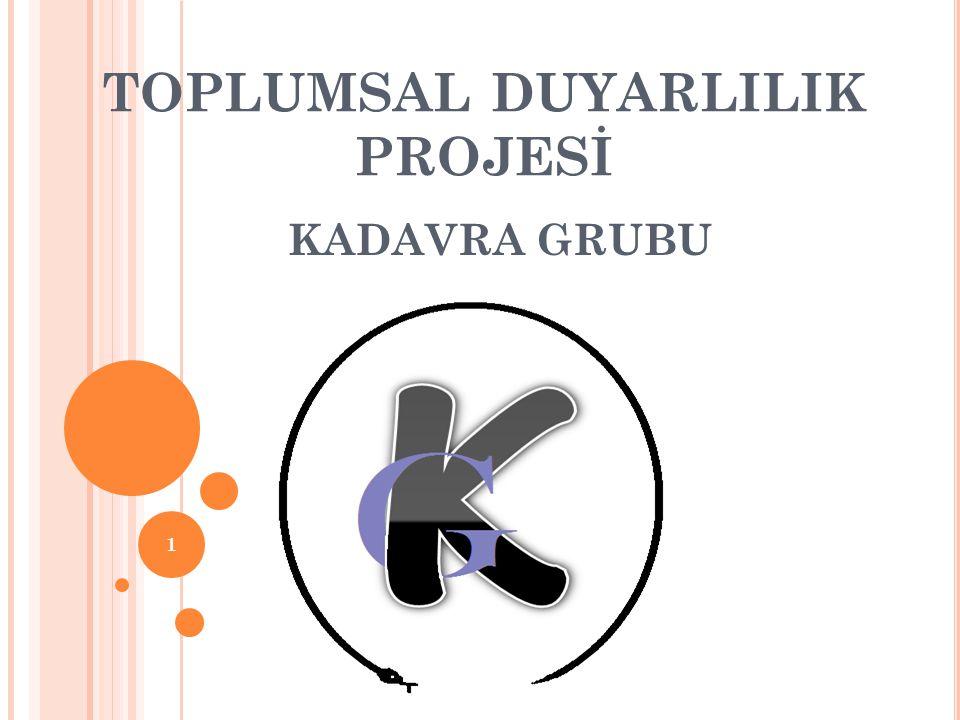 TOPLUMSAL DUYARLILIK PROJESİ KADAVRA GRUBU 1