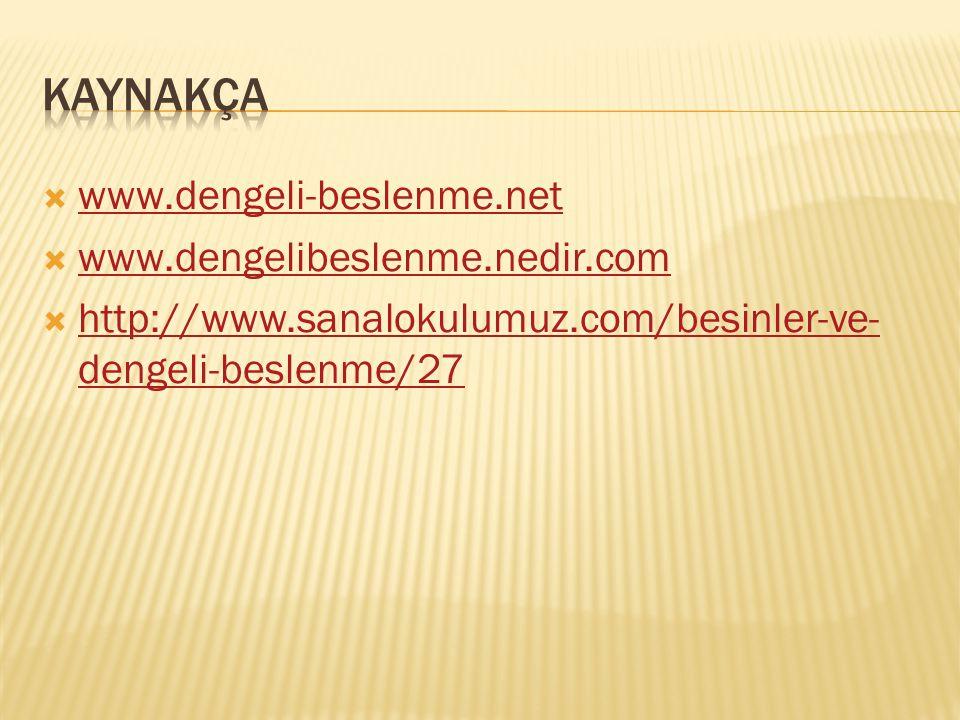  www.dengeli-beslenme.net www.dengeli-beslenme.net  www.dengelibeslenme.nedir.com www.dengelibeslenme.nedir.com  http://www.sanalokulumuz.com/besin