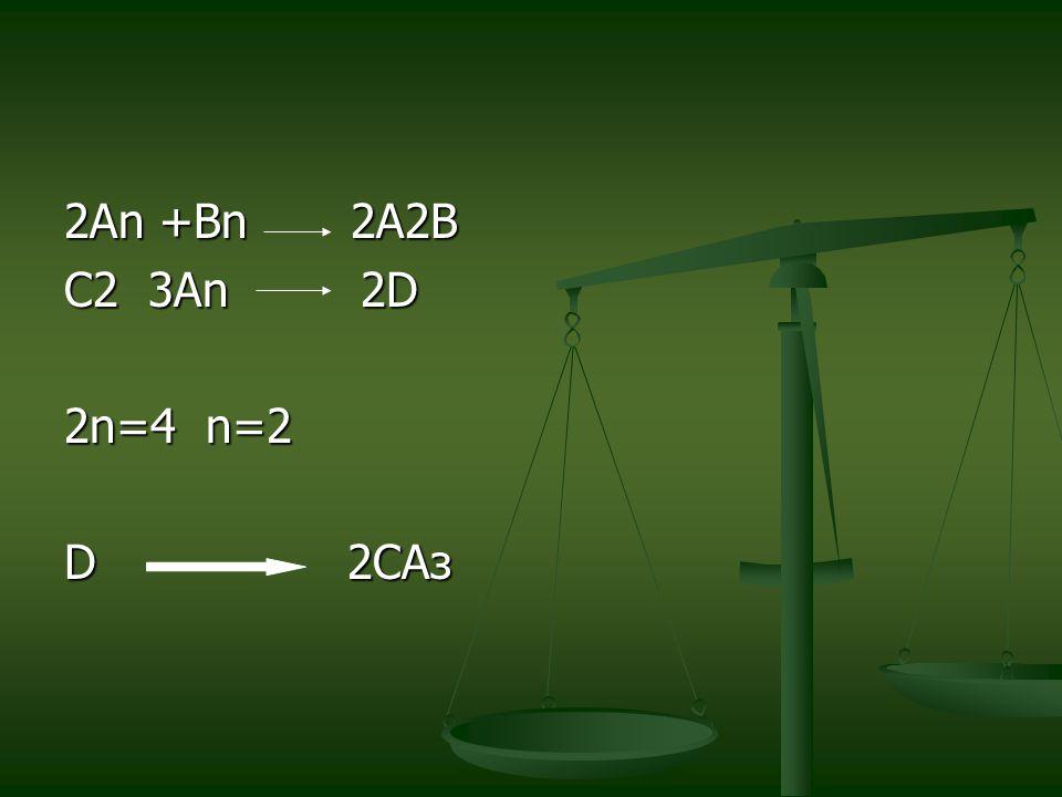 2An +Bn 2A2B C2 3An 2D 2n=4 n=2 D 2CAз
