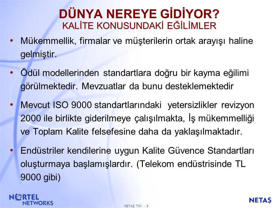 NETAŞ TKY - 68 ÇALIŞANLARLA İLGİLİ SONUÇLAR Kuruluş çalışanlar ile ilgili olarak ne gibi sonuçlar elde etmektedir.