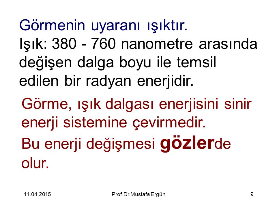 11.04.2015Prof.Dr.Mustafa Ergün10