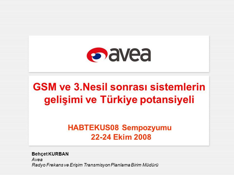 2 AVEA hakkında Yeni Hisse Yapılanması Eylül 2006 Haziran 2004 %81,13 Türk Telekom hisseleri Türk Telekomda %55 çoğunluk hisseleri %18.87 Türkiye İş Bankası hisseleri %18,87 %81,13 Türk Telekom Özelleştirmesi Kasım 2005