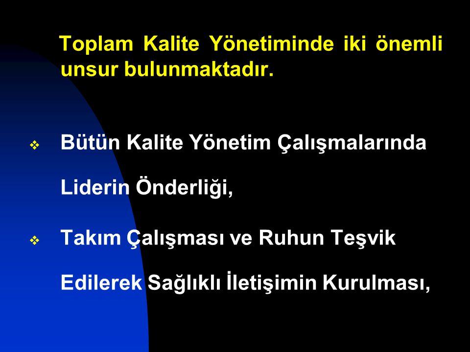 Toplam Kalite Yönetiminde iki önemli unsur bulunmaktadır.