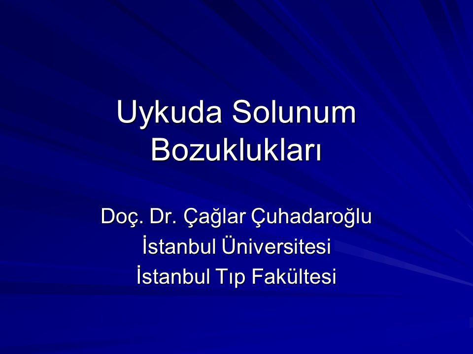 Uykuda Solunum Bozuklukları Doç. Dr. Çağlar Çuhadaroğlu İstanbul Üniversitesi İstanbul Tıp Fakültesi