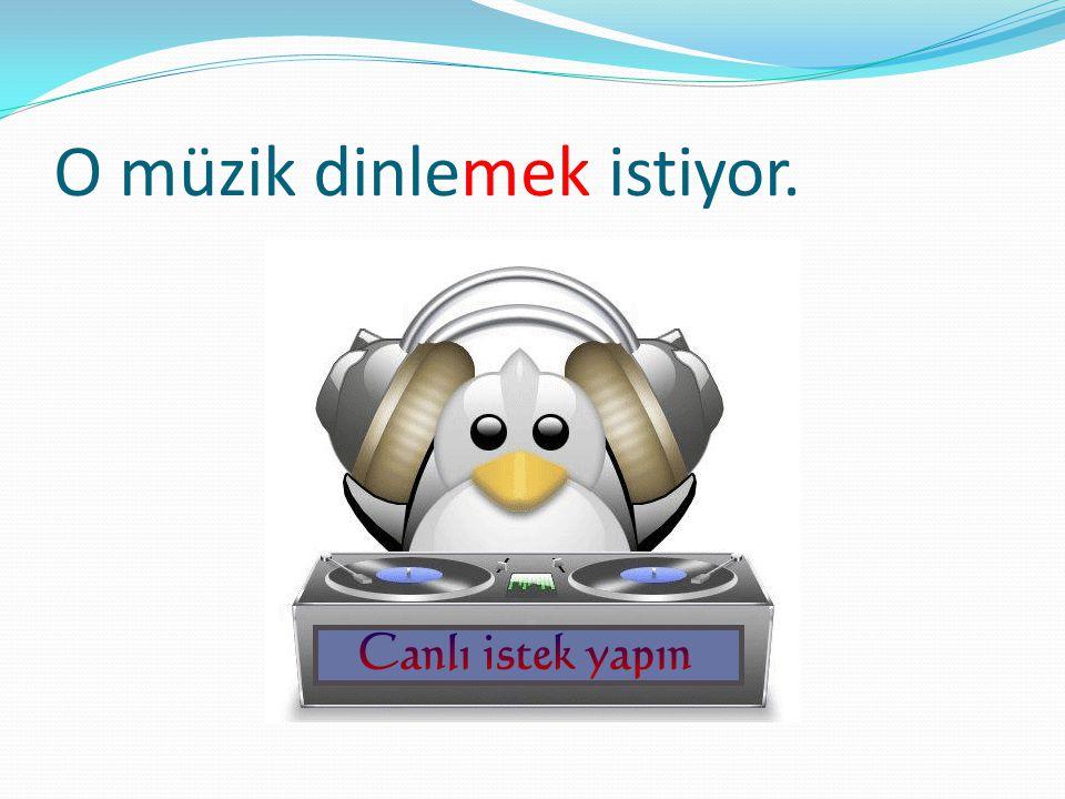 O müzik dinlemek istiyor.