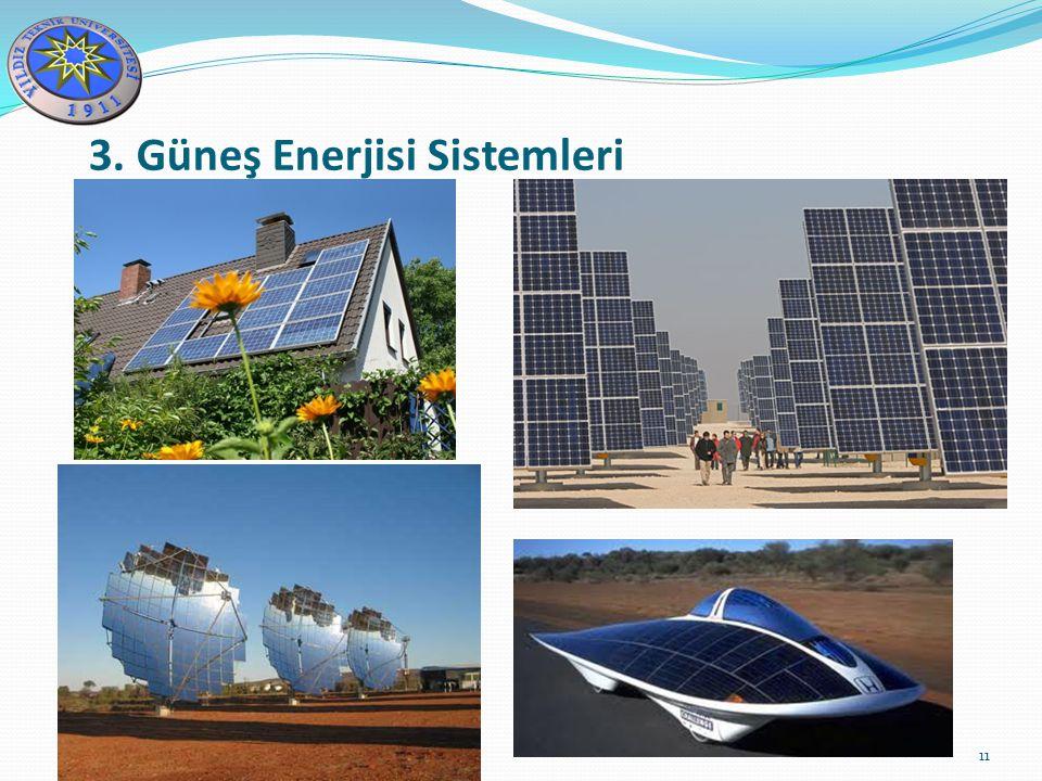 11 3. Güneş Enerjisi Sistemleri