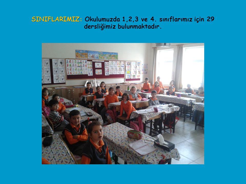 SINIFLARIMIZ: SINIFLARIMIZ: Okulumuzda 1,2,3 ve 4. sınıflarımız için 29 dersliğimiz bulunmaktadır.