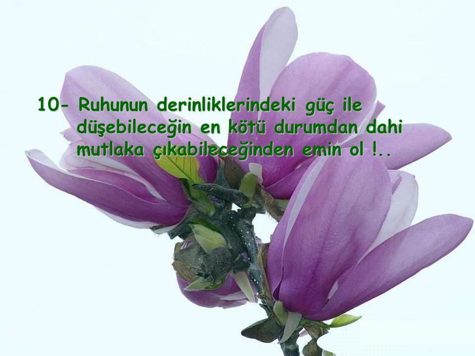 9– El alemden merhamet bekleme, 9– El alemden merhamet bekleme, güçlü ol, merhamet sahibi ol !.. (Hayat, (Hayat, ancak iyilerin ve iyiliklerin gücüyle