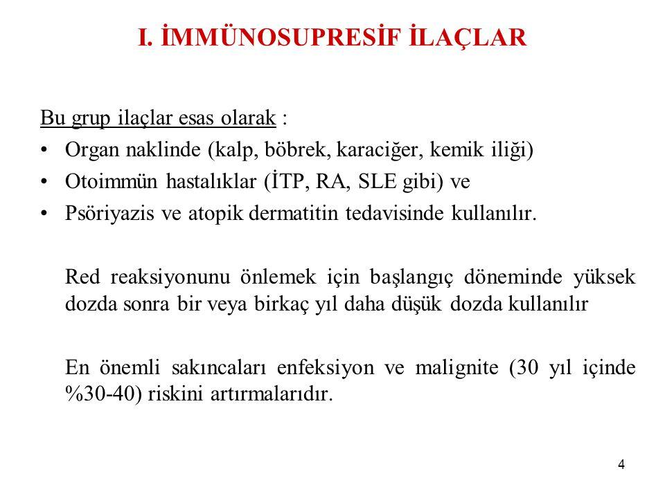 5 İl-2 R blokeri basiliximab, daclizumab