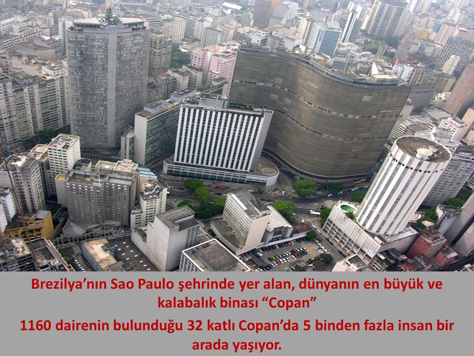 """Brezilya'nın Sao Paulo şehrinde yer alan, dünyanın en büyük ve kalabalık binası """"Copan"""" 1160 dairenin bulunduğu 32 katlı Copan'da 5 binden fazla insan"""