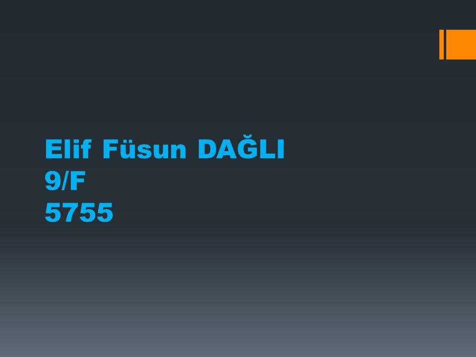 Elif Füsun DAĞLI 9/F 5755
