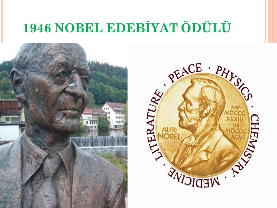 1946 NOBEL EDEBİYAT ÖDÜLÜ