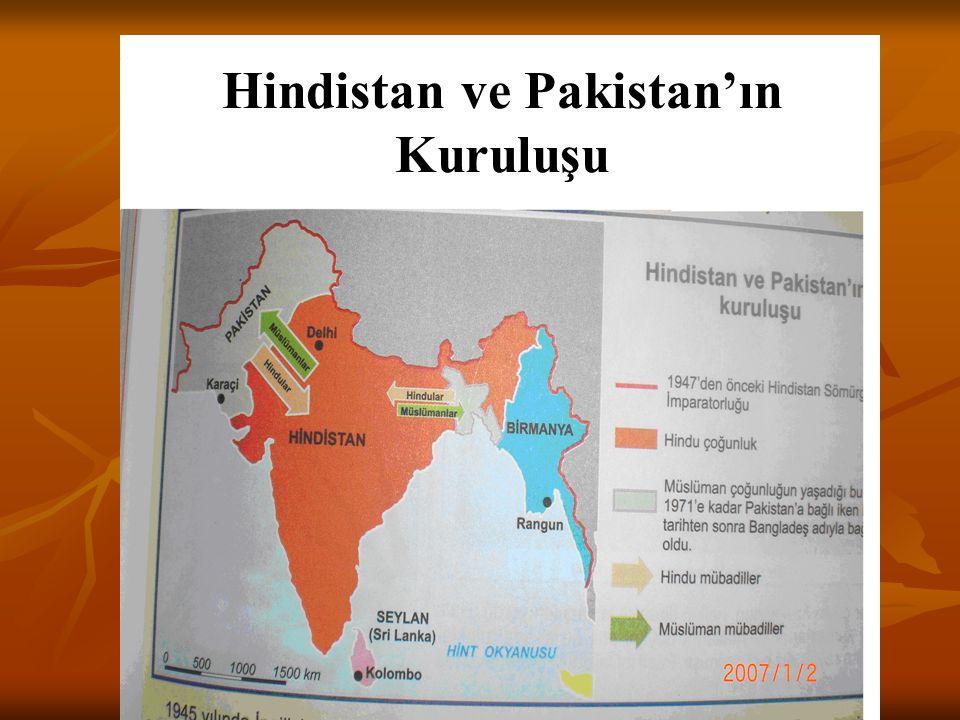 Hindistan ve Pakistan'ın Kuruluşu