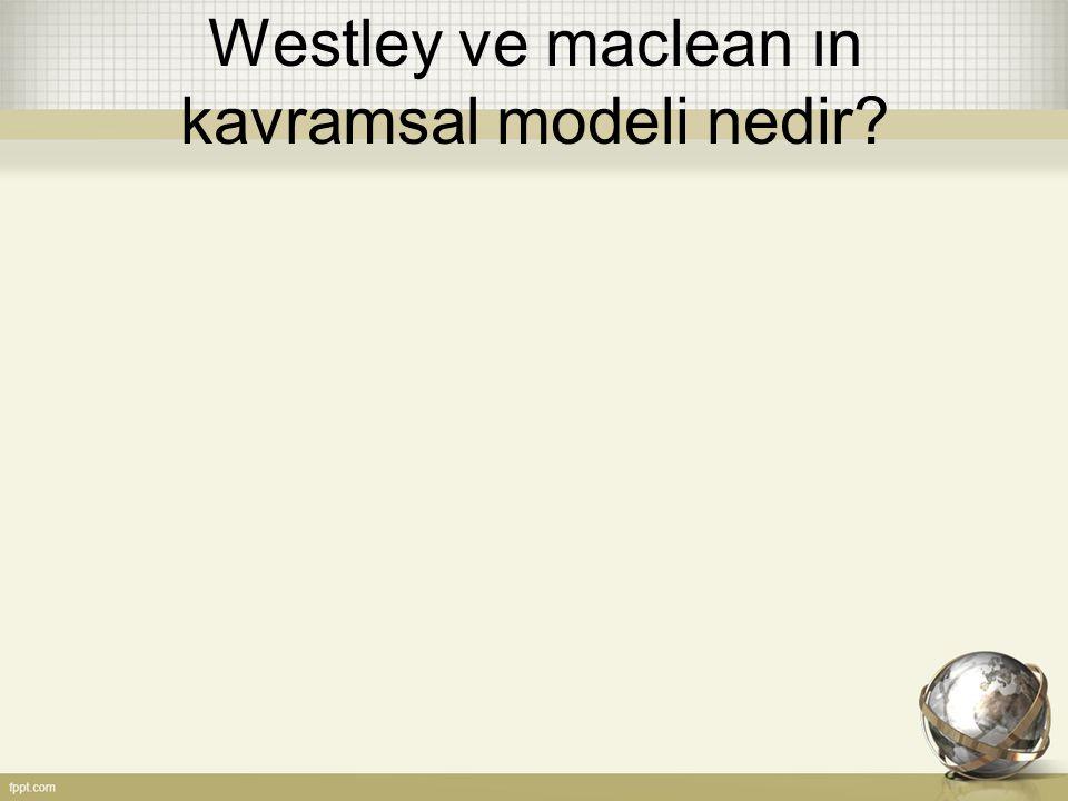 Westley ve maclean ın kavramsal modeli nedir?