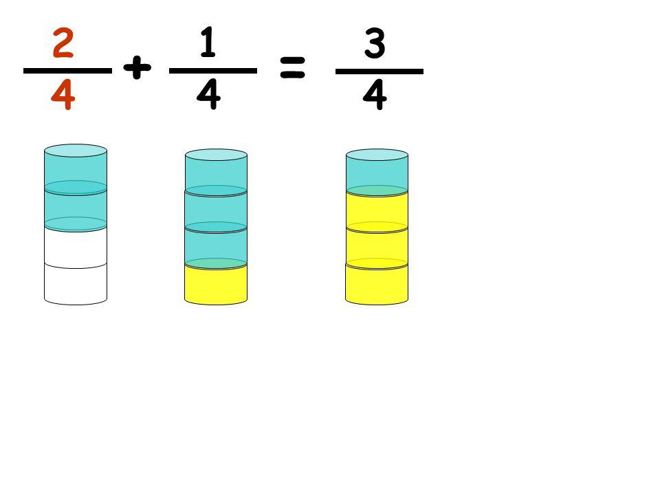 1 4 += 2 4 3 4